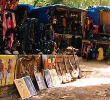 African Art Market - Print by WonderMeMosaics