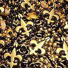 Black and Gold Fleur de Lis Bead Mix by StudioBlack