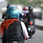 riding motorcycle by bayu harsa