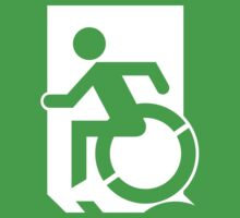 Emergency Exit Sign, with the Accessible Means of Egress Icon, part of the Accessible Exit Sign Project Kids Clothes