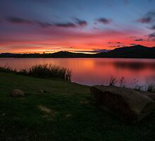 Lake Wyaralong Sunset by McguiganVisuals