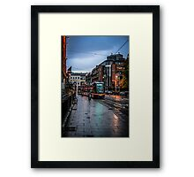 Wet Friday Night Framed Print