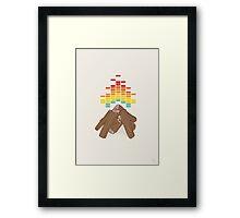 Crackling Fire Framed Print