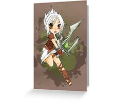 Riven chibi - League of Legends Greeting Card