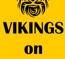 Vikings on Board Sticker
