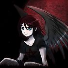 Red Moon Angel by OddworldArt