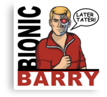Bionic Barry Canvas Print