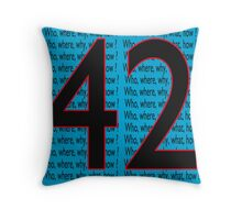 Life, The Universe And Everything Throw Pillow