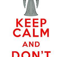 Dr Who - Weeping Angel - Keep Calm and Don't Blink (Red) by Bastien13