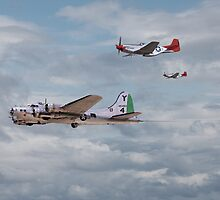B17and P51 - Red Tails - 'Bringing them Home' by warbirds