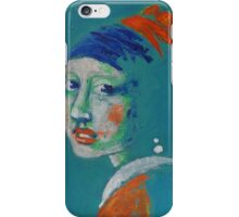 Girl With A Pearl Earring - Blue Portrait iPhone Case/Skin