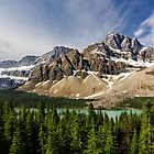 Crowfoot Glacier and Bow Lake by Charles Kosina