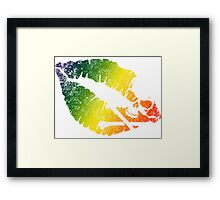 rainbow poison lips Framed Print