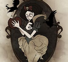 Snow White in the Black Forest by Fairytale Illustration