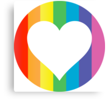 rainbow hearts Canvas Print
