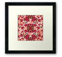 Retro Vintage Floral Motif Framed Print
