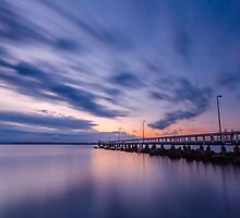 Sunrise at Wellington Point Jetty, Queensland, Australia by Ann Pinnock