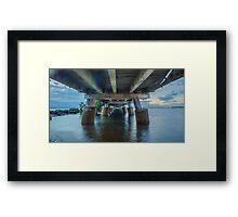 Underneath Wellington Point Jetty, Queensland, Australia Framed Print