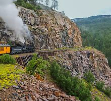 Mountain Top Train Ride Card by JohncardSmith