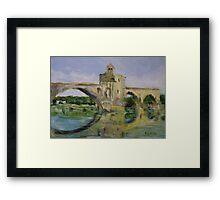 June Morning by Pont D'Avignon Framed Print