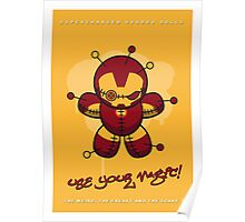 My SUPERCHARGED VOODOO DOLLS IRONMAN Poster