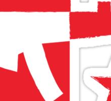 Digial gamer weapon gun distressed Sticker