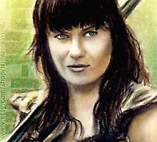 Lucy Lawless miniature by wu-wei