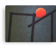 Balancing Sun Canvas Print