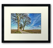 Winding Country Road. Framed Print
