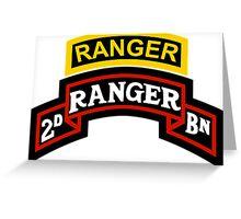 2nd Ranger +tab Greeting Card