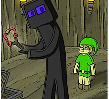 Enderman Meets Link by GrimDork