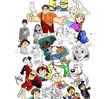 Disney Drawings Collage by APParky