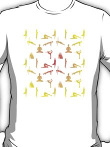 Yoga Positions In Gradient Colors T-Shirt