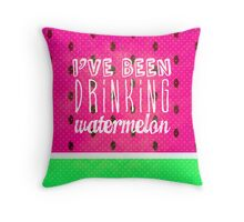 Drinking Watermelon Throw Pillow