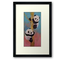 Panda Fun Framed Print