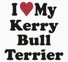 I Heart Love My Kerry Bull Terrier by HeartsLove