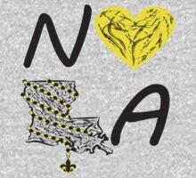 I heart NOLA (Black and Gold) 3 Kids Clothes