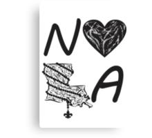 I heart NOLA (Black) Canvas Print