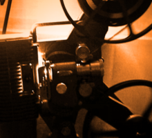 Old Hollywood 8mm Projector by Byron Croft Sticker