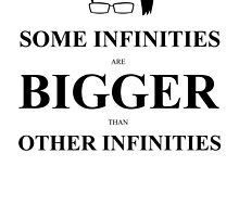 John Green Quote Poster - Some infinities are bigger than other infinities by Alexandrico