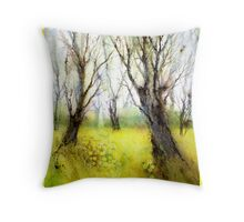 Carpets of Gold Throw Pillow