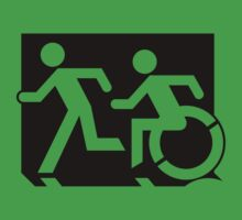 Emergency Exit Sign, with the Accessible Means of Egress Icon and Running Man, part of the Accessible Exit Sign Project Kids Clothes