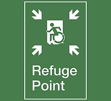 Refuge Point Accessible Exit Sign, with the Accessible Means of Egress Icon, part of the Accessible Exit Sign Project by LeeWilson