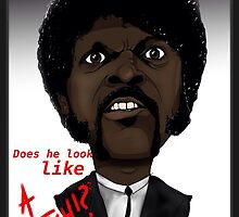Pulp Fiction - Samuel L Jackson - Jules - Caricature by monkeycircusart