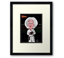 Doc Brown - Back To The Future - Caricature Framed Print