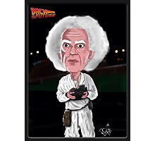 Doc Brown - Back To The Future - Caricature Photographic Print