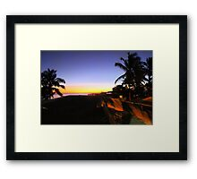Sunset On Isla Isabela In The Galapagos Framed Print