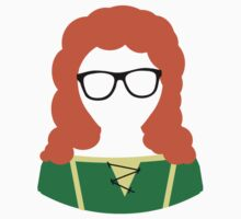 Disney Princesses Geeky Glasses Merida by krochelle
