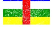 Distressed Central African Republic Flag by kwg2200