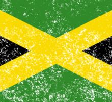 Distressed Jamaica Flag Sticker